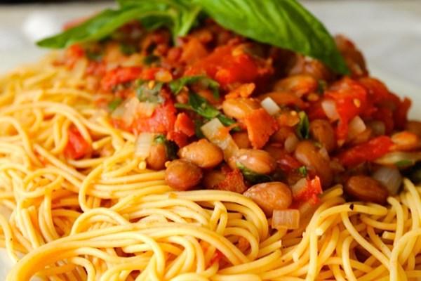 Pasta with Romano Beans I LisaGCooks.com
