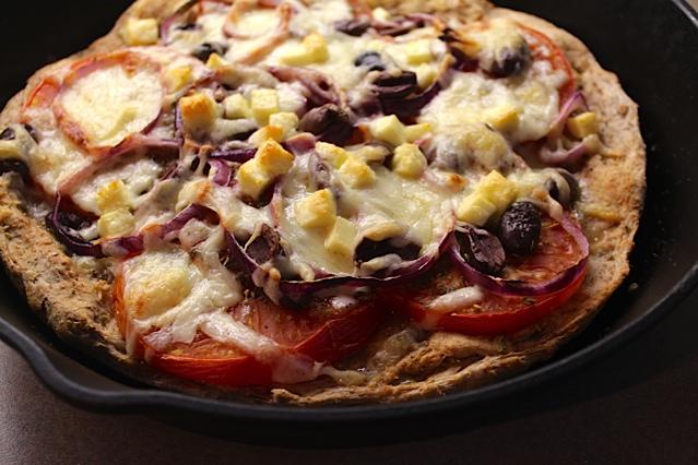 Greek-ish Pan Pizza