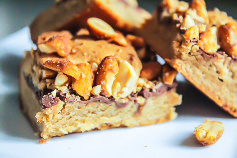 Chewy Peanut Butter and Nutella Cookie Bars