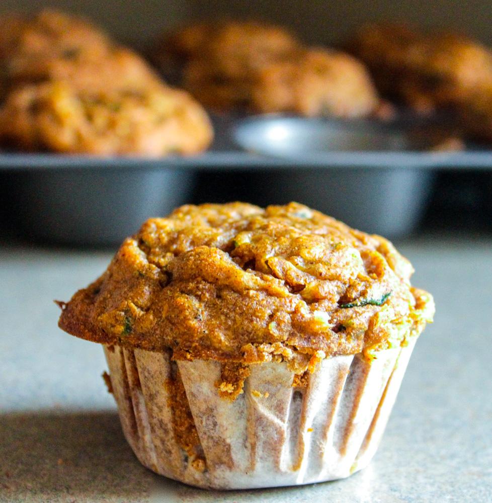 Spiced Zucchini Muffins 2