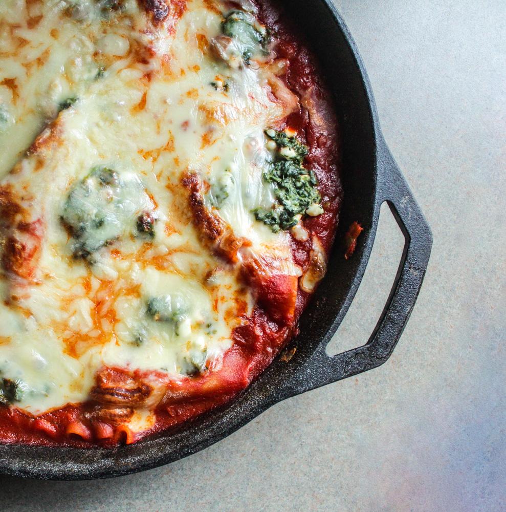 spinach skillet lasagna