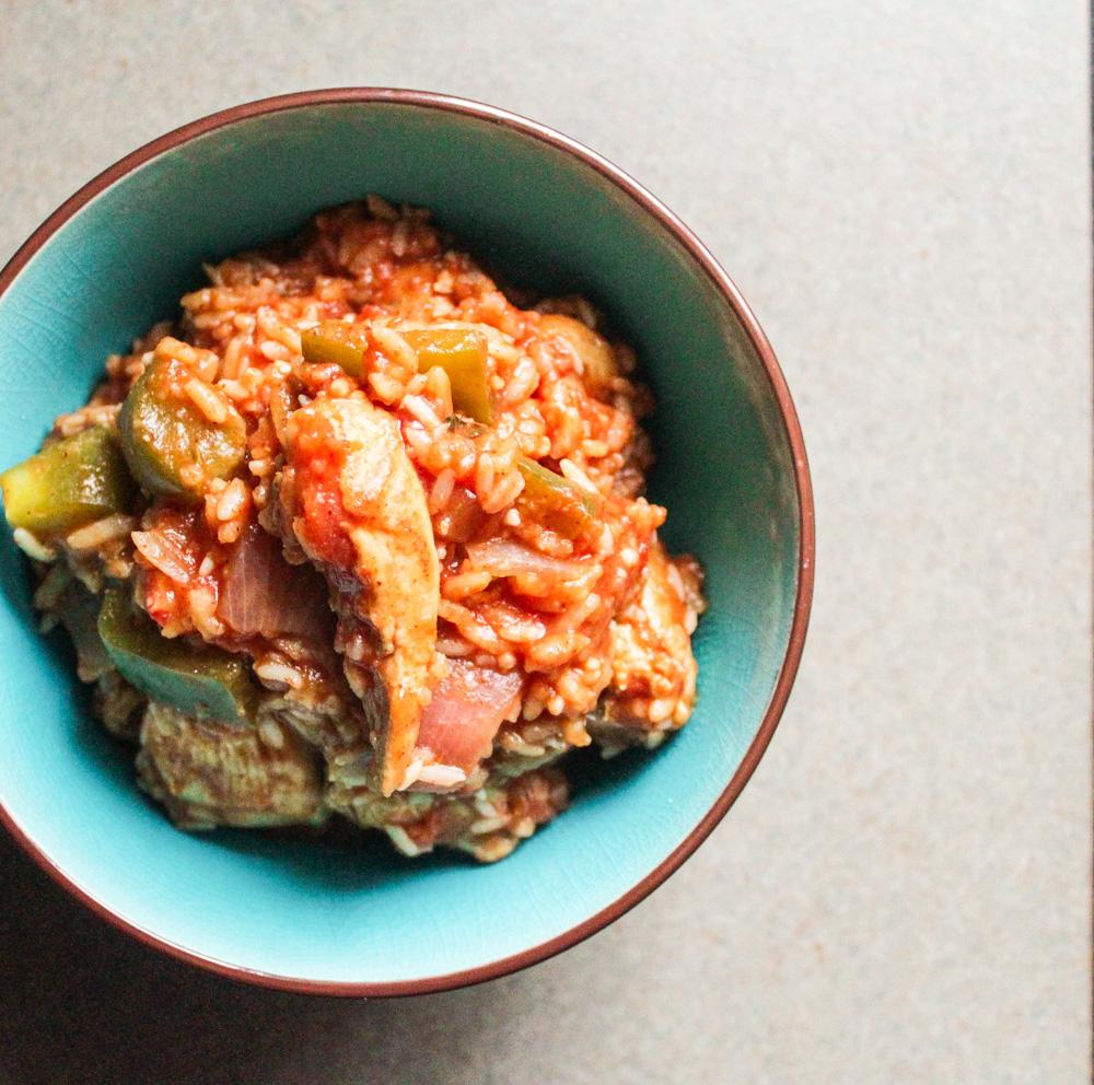 fajita rice dish