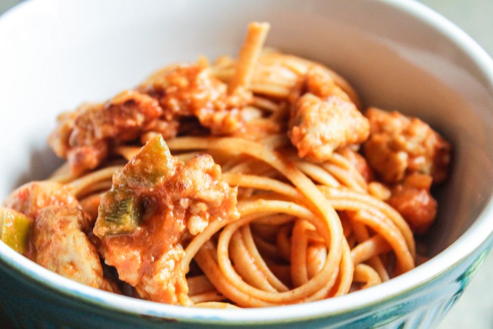 spicy pasta with cream sauce