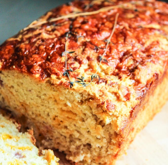 Apple Cheddar Christmas Loaf with Thyme