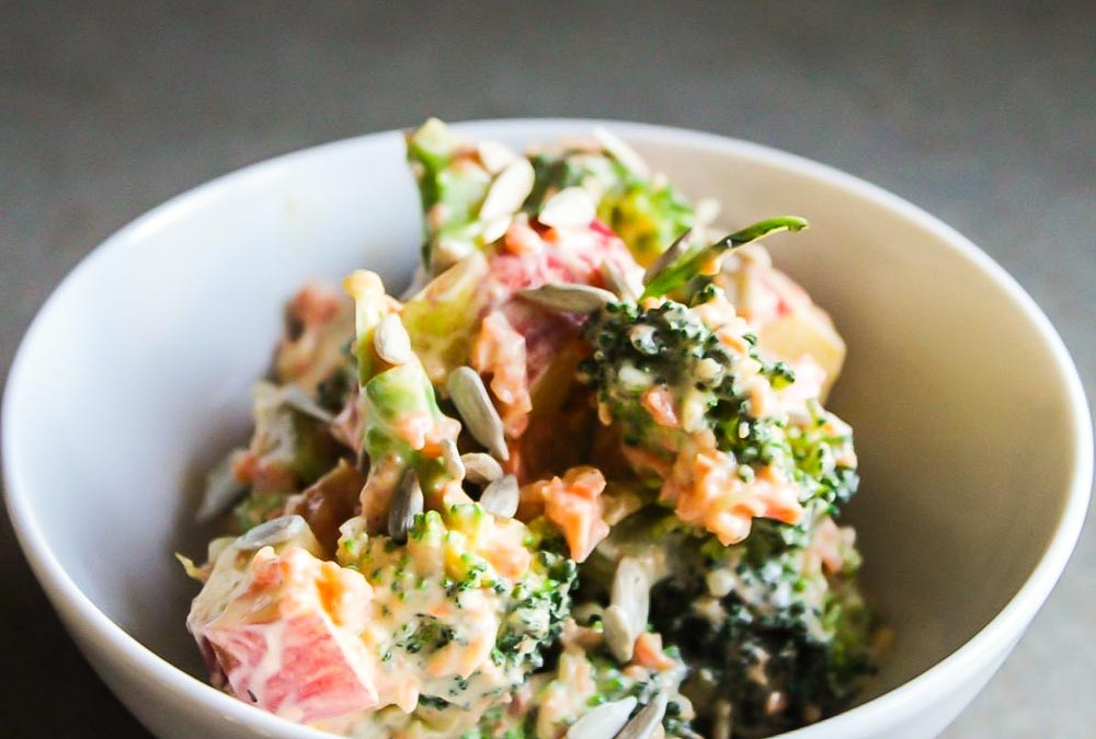 Tangy Broccoli and Apple Salad