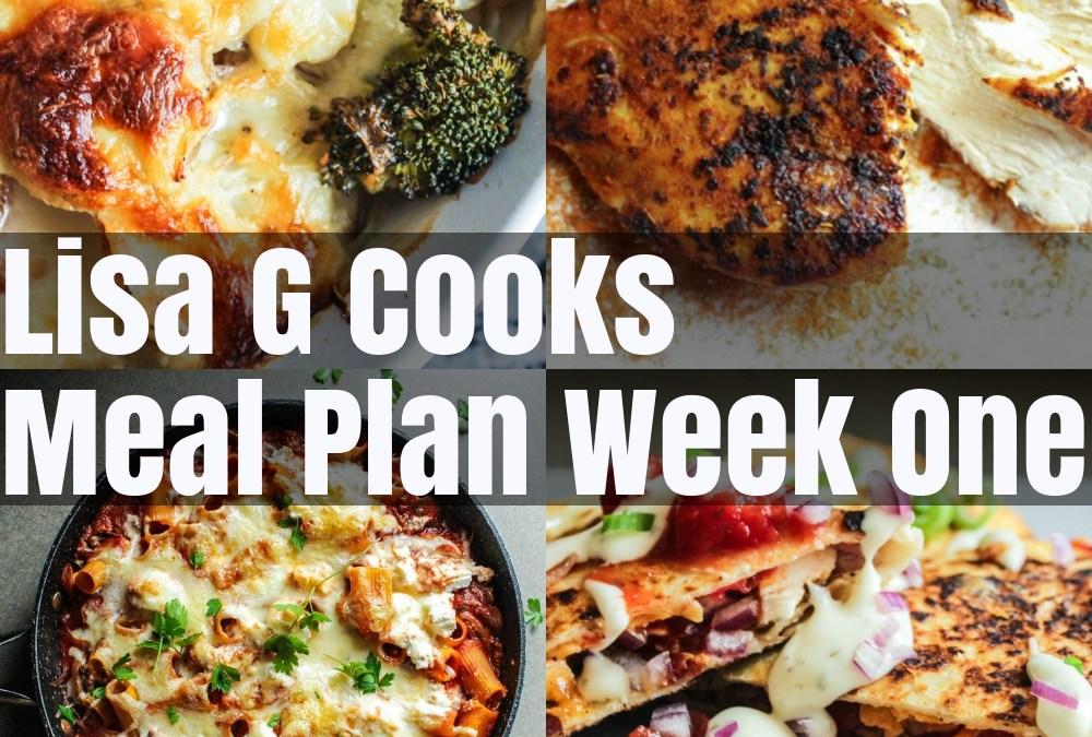 Meal Plan Week One