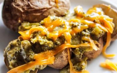Lazy Cheesy-Broccoli Potatoes