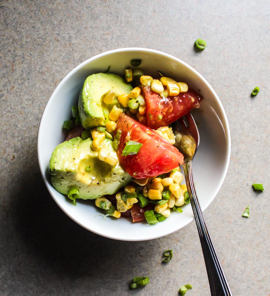 Tomato and Avocado and Corn Salad