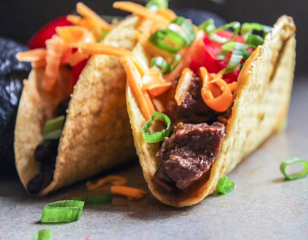 Instant Pot Shredded Beef Tacos with Black Beans - Lisa G ...