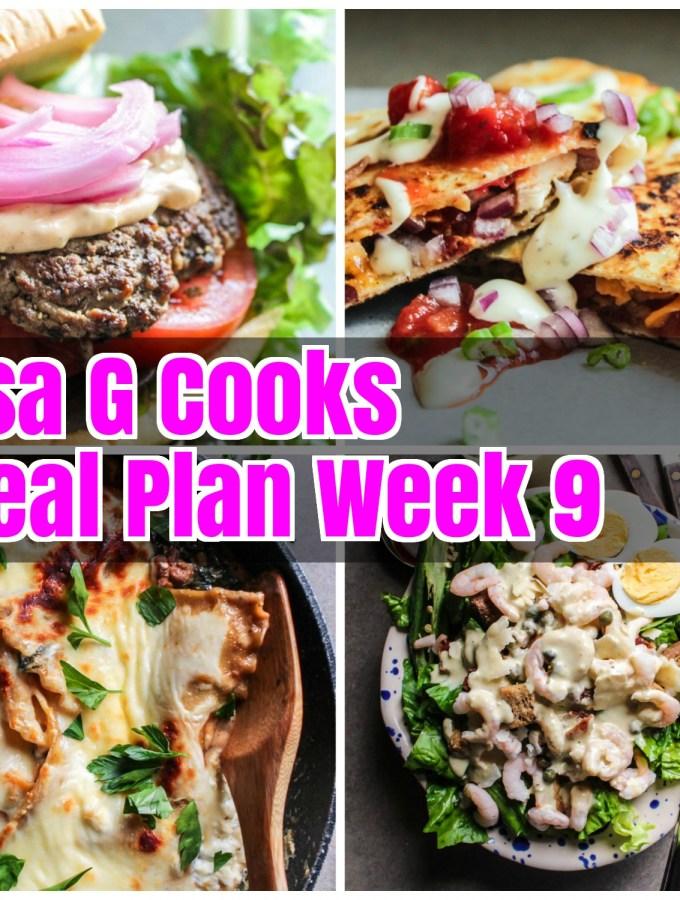 Meal Plan Week 9