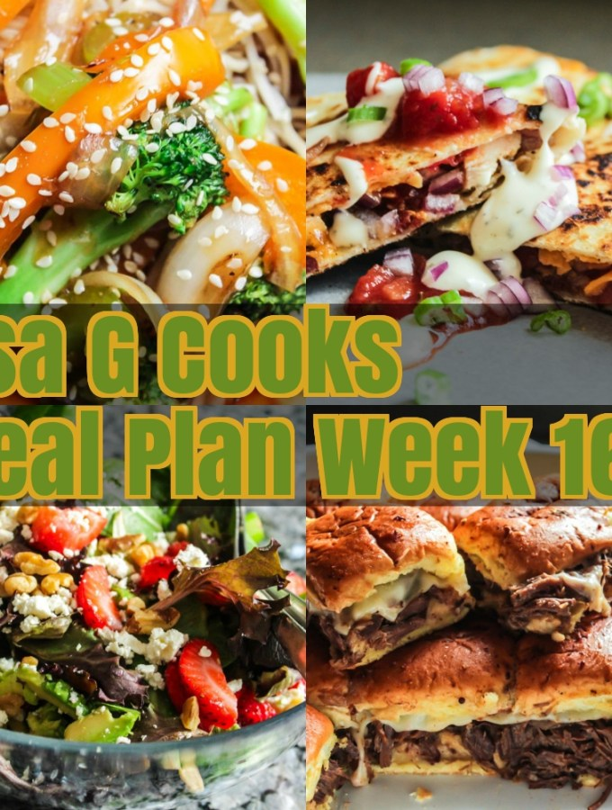 Meal Plan Week 16