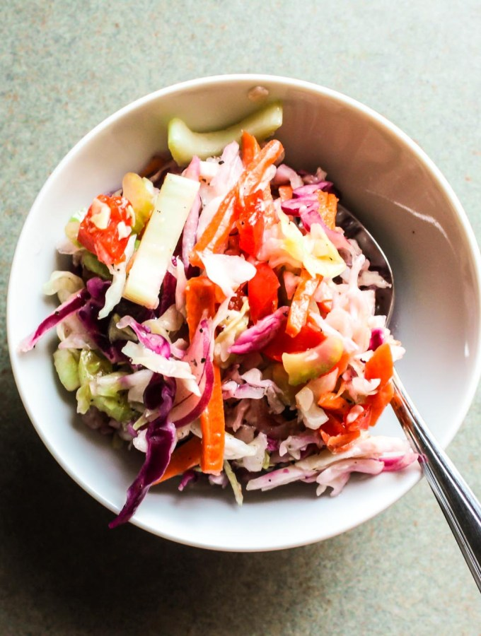 Classic Oil and Vinegar Coleslaw