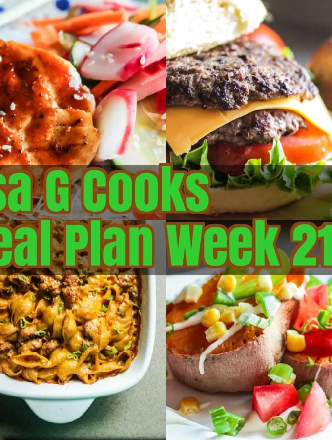 Meal Plan Week 21