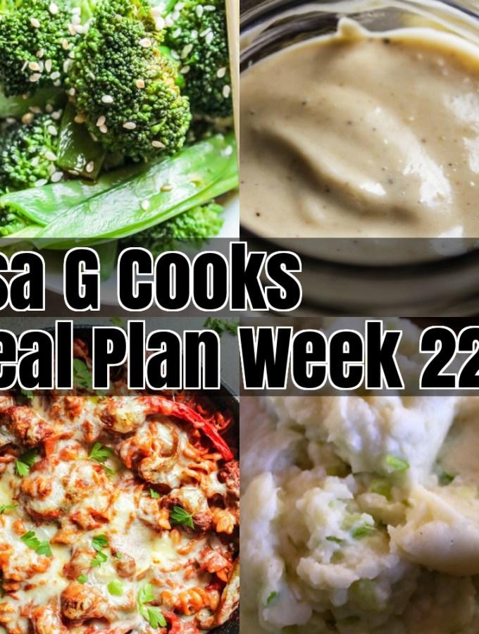Meal Plan Week 22
