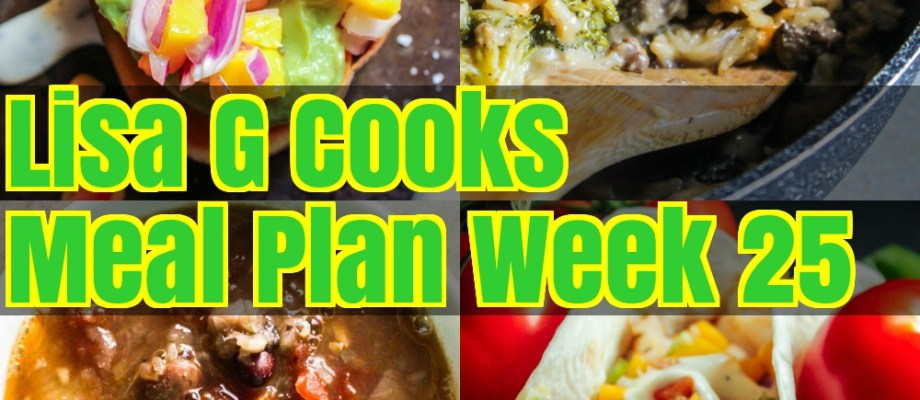 Meal Plan Week 25