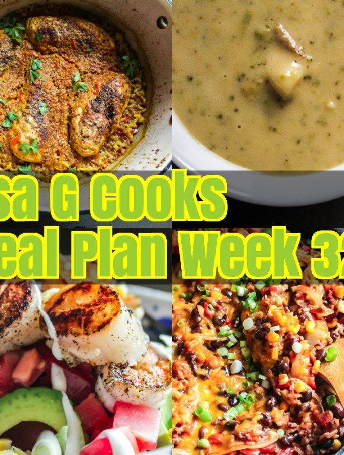 Meal Plan Week 32