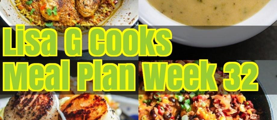Meal Plan Week 32