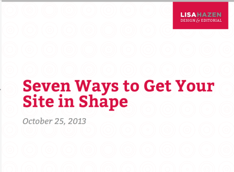 Seven Ways to Get Your Site in Shape