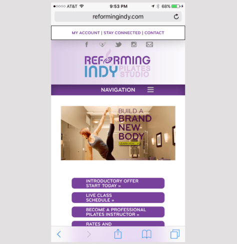 Reforming Indy Mobile Site