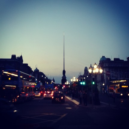 O'Connell Street Dublin at night
