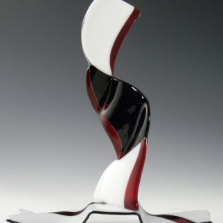 Black Tie as seen In Sculptural Fused Glass with Lisa Vogt