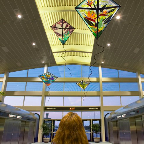 Kites in Flight, Tampa International Airport Photo credit Steven Widoff