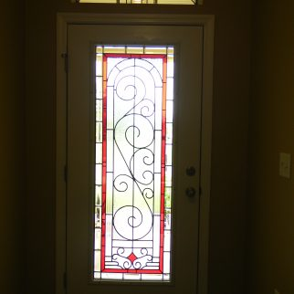 Leaded glass door by Jessie Battin, Lisa and Joe Vogt