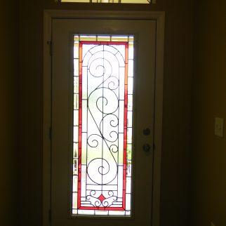 Leaded glass door by Jessie Battin, Lisa and Joe Vogt