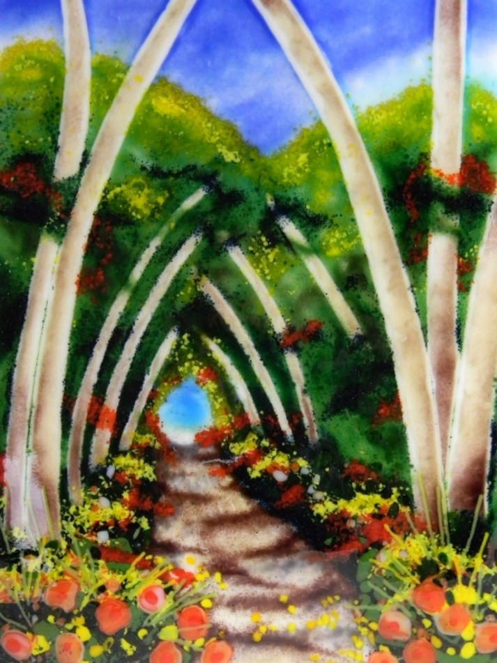 Fairy Tale Forest as seen in Painting with Frit with Lisa Vogt video