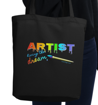 Artwear Eco-conscience Tote Bags Custom Designed for Artists by Artists