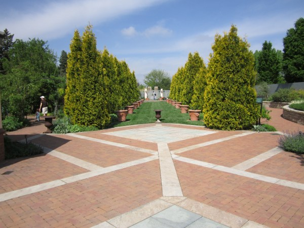 Pathways can be created from all sorts of materials from rock, crushed granite or mulch.