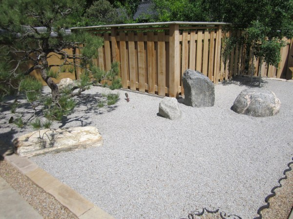 Zen garden. A great way to use up space without water or plants.