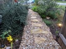 River rock sidewalk