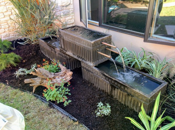 Disappearing water feature, Lisa LaPaso