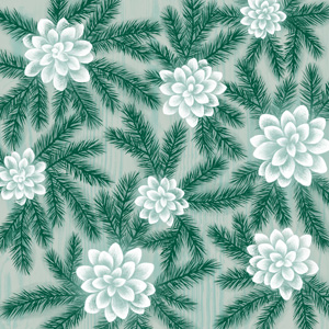 Winter Wonder Pine Succulent Pattern