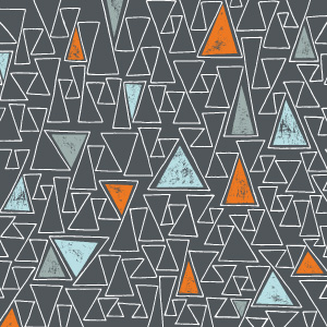 Eclectic Geometric Contrast Crazy Triangle