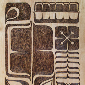 GeoTribal Wood Wall Art