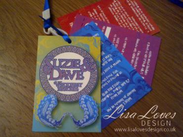 Festival Lanyard Wedding Invitation