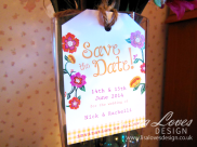 Save The Date Rustic Tag