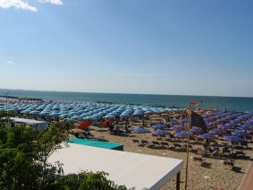 Beaches of Cattolica, Italy on the Adriatic Coastline (right)