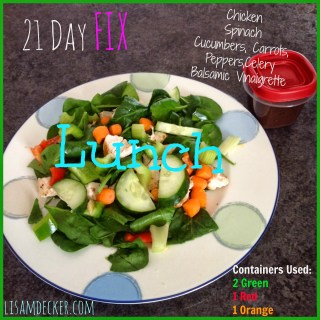 21 Day Fix Lunch, Grilled Chicken Salad, Meal Planning and Prep