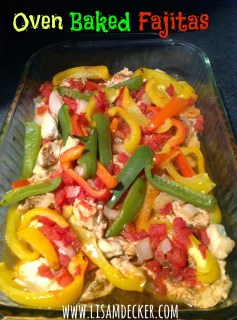 clean eating, oven baked fajitas