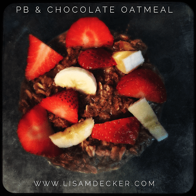Peanut Butter and Chocolate Oatmeal, Oatmeal Recipes, Shakeology Recipes, Healthy Breakfast, Clean Eating, Meal Planning, 21 Day Fix, Successfully Fit, Lisa Decker