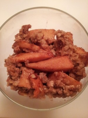 tequila, soah, apple crisp, recipe, sugar free