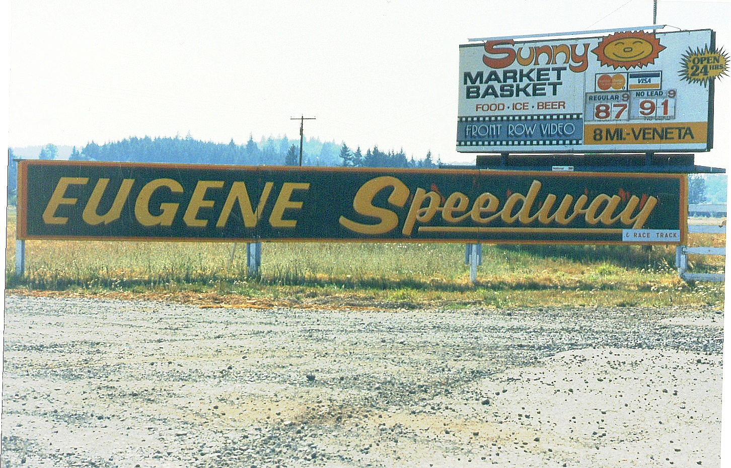The entry to Eugene Speedway