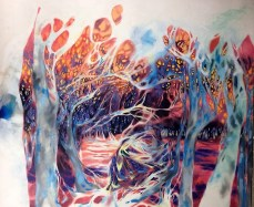 Entangled Oasis, 10x8 ft, oil on canvas $6000