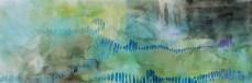 Cloud scaps-1.5x4 ft -watercolor on paper $400