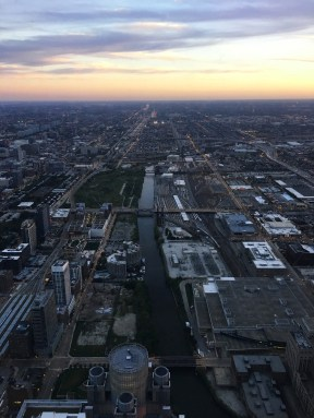 Looking south from the Willis Tower.