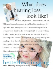 What does hearing loss look like?