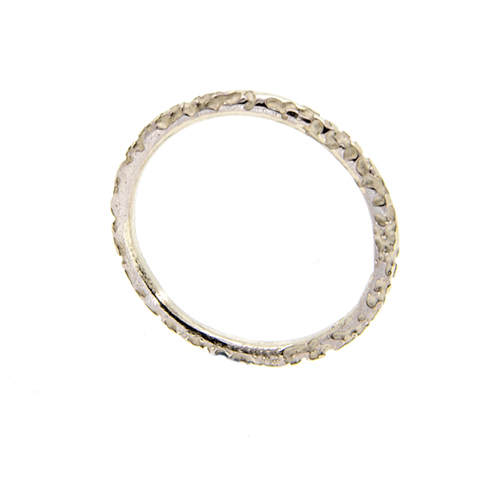 White silver pitted lichen ring_ Lisa Rothwell-Young